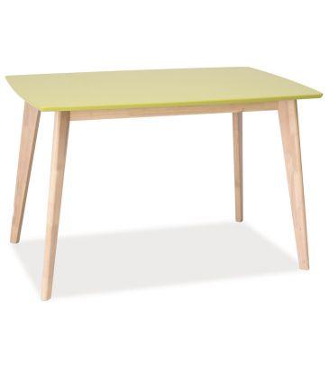 Stół Signal Combo dąb bielony/zielony 120x75