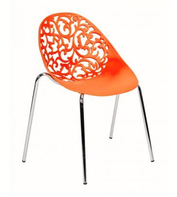 Krzesło LCN Mondo pomarańczowe