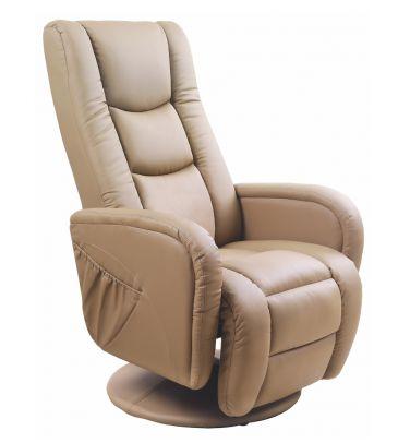 Fotel rozkładany Halmar Pulsar beżowy
