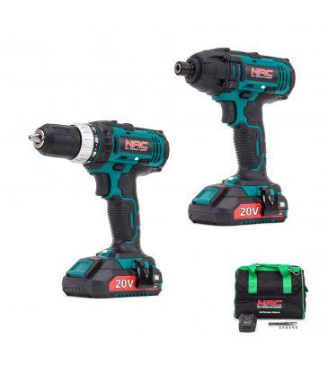 Zestaw narzędziowy wkrętarka + zakrętarka 20V NAC CDB-ID-20V
