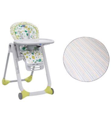 Zestaw: Krzesełko do karmienia Chicco Polly Progres5 kiwi + Mata Prince Lionheart multi-use catchALL 2260