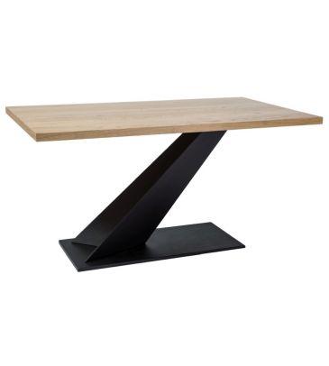 Stół Signal Arrow lity dąb/czarny 150x90