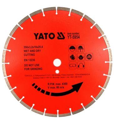 Tarcza diamentowa do betonu 400x25.4 mm YATO YT-5955
