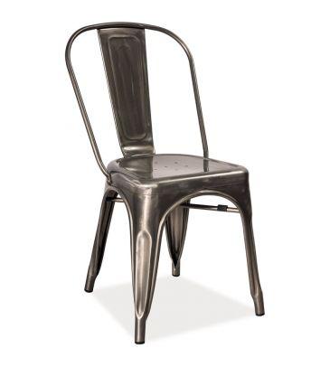Krzesło Signal LOFT2 stal szczotkowana