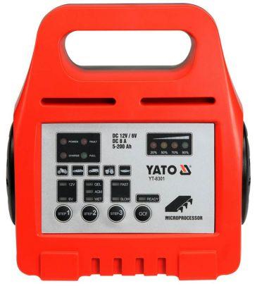 Prostownik elektroniczny 6/12V 8A 5-200Ah YATO YT-8301