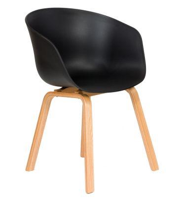 Krzesło skandynawskie FCS DEVO czarne