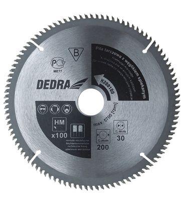 Piła tarczowa do metali nieżelaznych DEDRA H205100 205x30 mm 100T