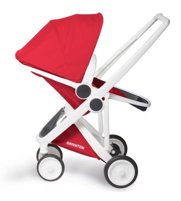 Wózek spacerowy Greentom UPP Reversible A+B+D white/red