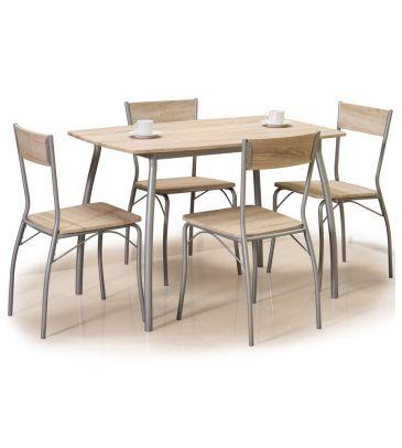 Zestaw stół + 4 krzesła Signal Modus dąb sonoma 110x72