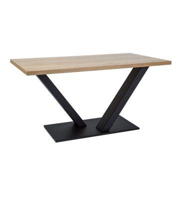 Stół Signal Vector okleina naturalna dąb/czarny 150x90