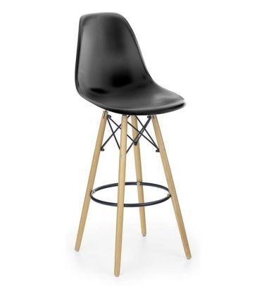 Krzesło barowe hoker Halmar H-51 czarny
