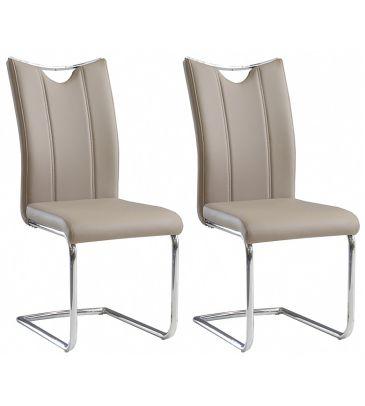 Krzesło 2 szt. Forte Onega KR0112-MET-YBS07