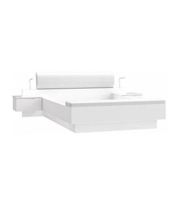 Łóżko z szafkami nocnymi Forte Starlet White STWL163