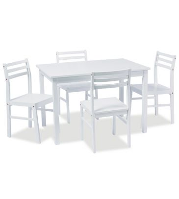 Zestaw stół + 4 krzesła Signal Tromso biały 110x75