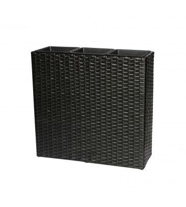 Donica z systemem nawadniania czarna 79 x 27 x 76 cm MEVEN HOME&GARDEN