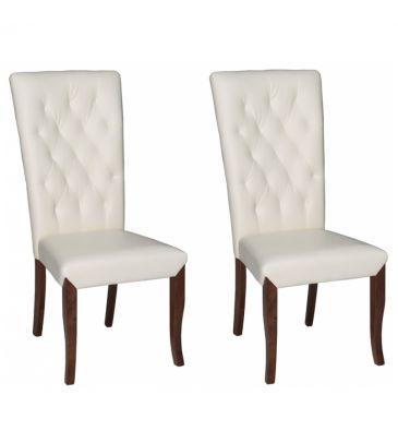 Krzesło 2szt. Forte Alcano KR0066-H43-ECRU
