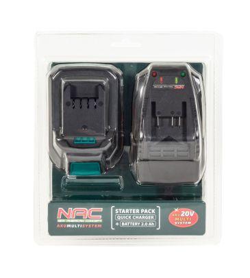 Zestaw akumulator 20V 2Ah + ładowarka NAC B-20-BC-LI-20V