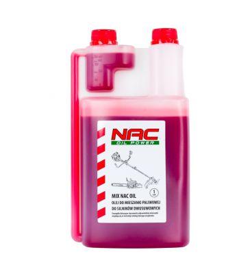 Olej do kos i podkaszarek NAC MIX OIL 1L z dozownikiem