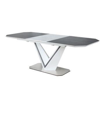 Stół rozkładany Signal Valerio Ceramic szary/biały 160x90