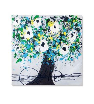 Obraz olejny ArteHome Szmaragdowe drzewo 60x60