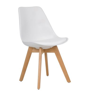 Krzesło MSH Duvet białe
