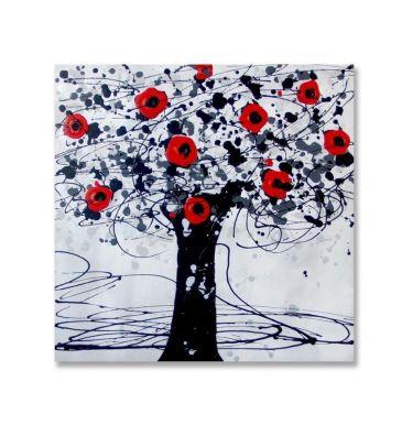 Obraz olejny ArteHome Koralowe drzewo 60x60