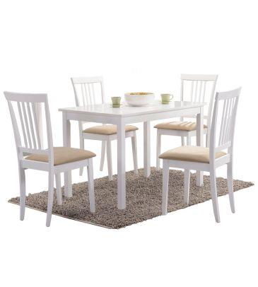 Zestaw stół + 4 krzesła Fiord  110x70