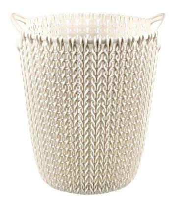 Kosz na papiery Curver Knit 230093 7L kremowy