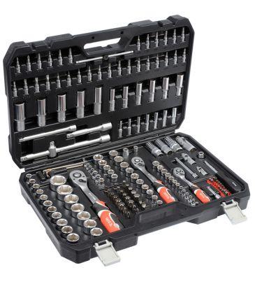 """Zestaw narzędziowy 1/4"""", 3/8"""", 1/2"""" 173 el. YATO YT-38931 + klucze płasko-oczkowe 6szt"""