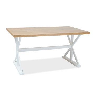Stół Signal Oxford okleina naturalna dąb/biały 150x90