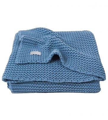 Koc Jollein 100x150 heavy Knit 516-522-65087 niebieski