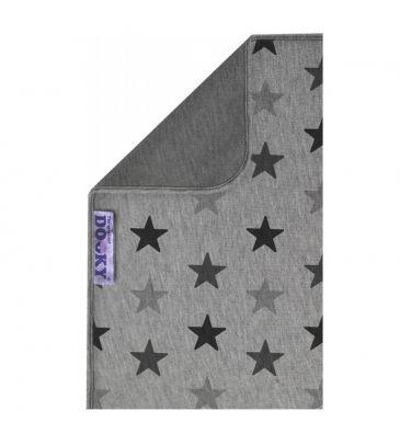 Dwustronny kocyk Dooky grey stars