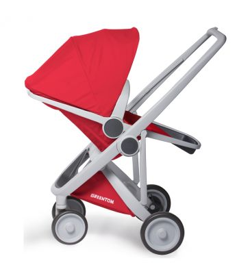 Wózek spacerowy Greentom UPP Reversible A+B+D grey/red