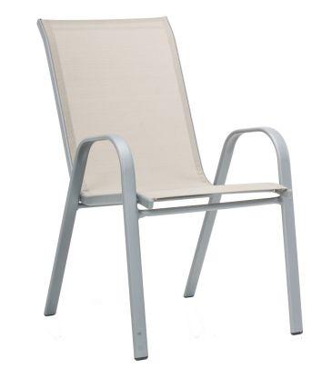 Krzesło stalowe MODERNO jasne