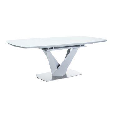 Stół rozkładany Signal Vegas biały mat/szary mat 160x90