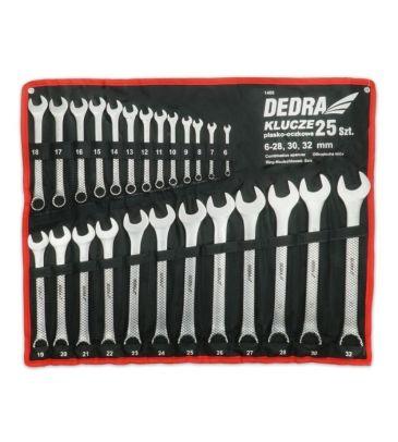 Zestaw kluczy płasko-oczkowych 25 szt. DEDRA 1406
