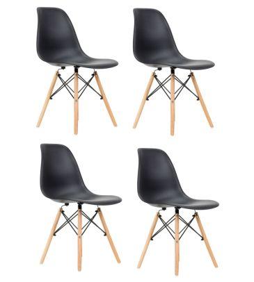Zestaw: Krzesło skandynawskie FCS Cavo czarne 4 szt