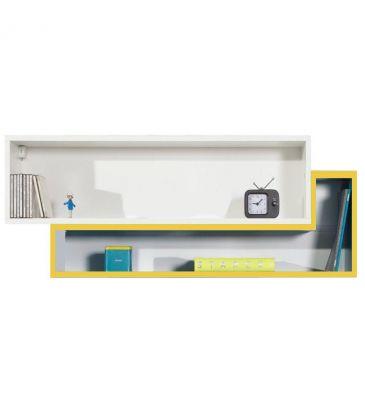 Półka wisząca Meblar Mobi 14 biały lux / żółty