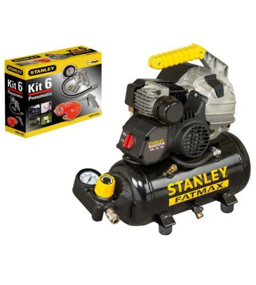 Kompresor hybrydowy olejowy 6L Stanley FATMAX HYBE404STF508 (STP308) z akcesoriami