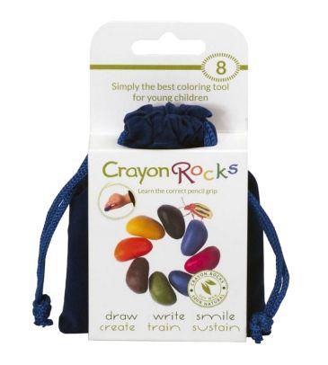 Kredki z wosku sojowego Crayon Rocks 8 kolorów aksamitny worek