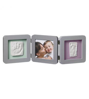 Ramka na zdjęcie + odcisk Baby Art Double Print 34120139 grey