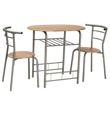 Zestaw stół + 2 krzesła Signal Gabo dąb sonoma