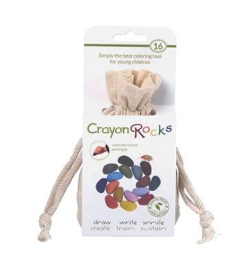 Kredki z wosku sojowego Crayon Rocks 16 kolorów bawełniany worek