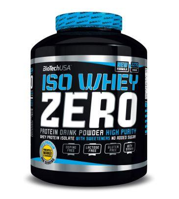 Izolat białka Biotech Iso Whey Zero 2270g strawberry + 500g GRATIS