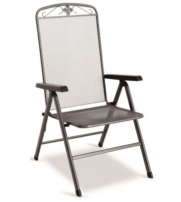 Fotel 5-pozycyjny SAVOY metalowy siatkowy