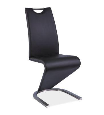 Krzesło Signal H-090 czarne stal szczotkowana