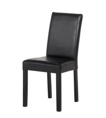 Krzesło Forte KR0040 196 DBWN  wenge/ekoskóra brąz