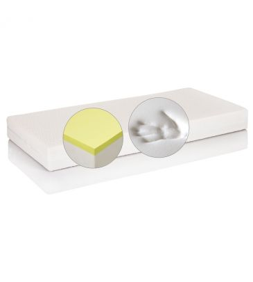 Materac lateksowy-visco Hevea Topactive Thermo Flexi 90x200 natural + PODUSZKA