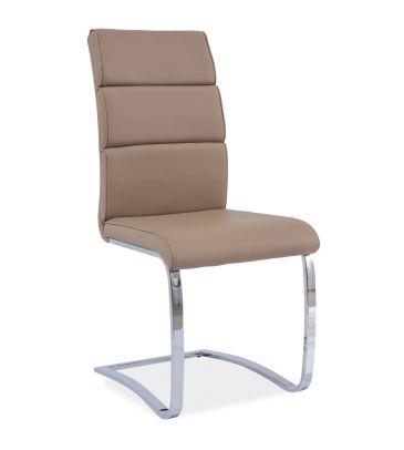 Krzesło Signal H-456 ciemny beż/chrom