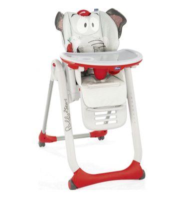 Krzesełko do karmienia Chicco Polly 2 START-4 koła baby elephant